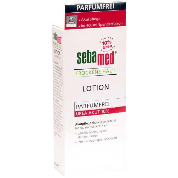 sebamed trockene haut parf mfrei lotion urea akut 10 spender lotion 400 ml diashop. Black Bedroom Furniture Sets. Home Design Ideas