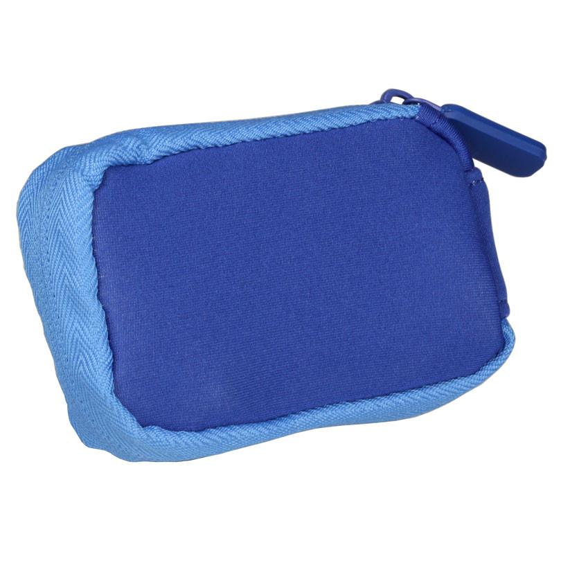 732aff3b387de Neopren-Tasche mit Clip und Reißverschluss blau - ACC-810BL   1 Stück
