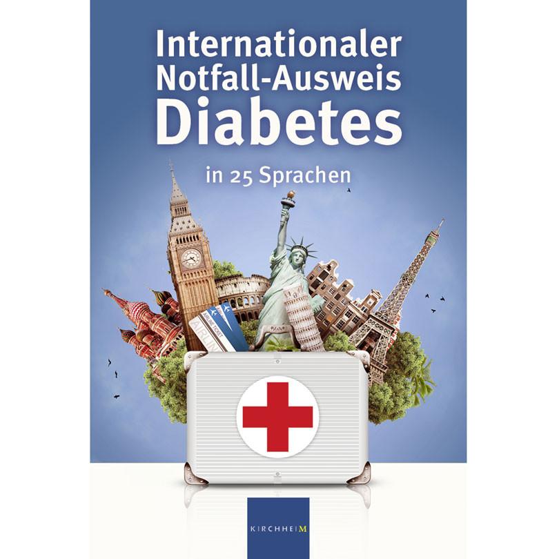 Internationaler Notfall Ausweis Diabetes   in 25 Sprachen / 1