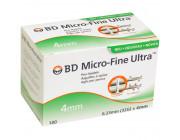 BD Micro-Fine Ultra 0,23 x 4 mm (32G) - Standard Pennadeln / 100 Stück