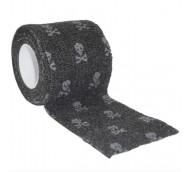 autsch & go Fixiertape schwarz mit Totenköpfe  5 cm x 4,5 m - Fixierung für Pod/Sensor / 1 Rolle