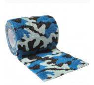 autsch & go Fixiertape Camouflage blau - 7,5 cm x 4,5 m - Fixierung für Pod/Sensor / 1 Rolle