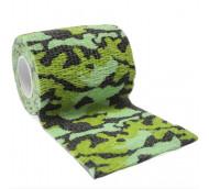 autsch & go Fixiertape Camouflage grün - 7,5 cm x 4,5 m - Fixierung für Pod/Sensor / 1 Rolle