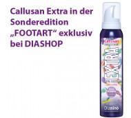 """Callusan EXTRA in der Sonderedition """"Footart"""" - 10% Urea bei sehr trockener Haut / 125 ml"""