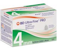 BD Ultra-Fine PRO 0,23 (32G) x 4 mm - Standard Pennadeln / 105 Stück