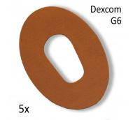 Diasticker Dexcom G6 Fixierungspflaster - hautfarben / 5 Stück