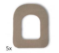 Diasticker Omnipod Fixierungspflaster - hautfarben / 5 Stück