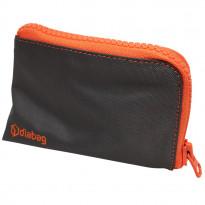 Diabag SUNNY klein Nylon anthrazit/orange - Diabetikertasche / 1 Stück