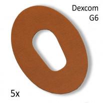 Diasticker Dexcom G6 Fixierungspflaster - beige / 5 Stück