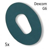 Diasticker Dexcom G6 Fixierungspflaster - türkis / 5 Stück