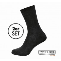 KUNERT Damen Diabetikersocken schwarz Gr. 37/38 - Basic Doppelpack Take Care DIA BASIC / 2 Paar