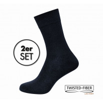 KUNERT Damen Diabetikersocken marine Gr. 37/38 - Basic Doppelpack Take Care DIA BASIC / 2 Paar