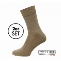 KUNERT Damen Diabetikersocken beige Gr. 39/40 - Basic Doppelpack Take Care DIA BASIC / 2 Paar