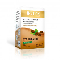 INSTICK Eiskaffee - zuckerfreies Instant-Getränk - Größe S / 12 Beutel