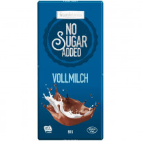 Frankonia No Sugar Added Vollmilch Schokolade / 80 g Tafel