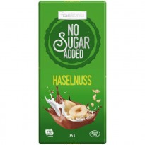 Frankonia No Sugar Added Haselnuss Schokolade / 85 g Tafel