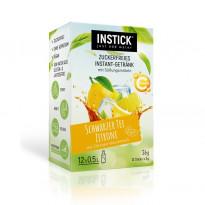 INSTICK Schwarzer Tee / Eistee Zitrone - zuckerfreies Instant-Getränk - Größe S / 12 Sticks