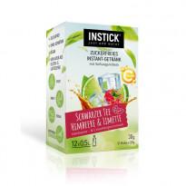 INSTICK Schwarzer Tee Himbeere & Limette - zuckerfreies Instant-Getränk - Größe S / 12 Sticks