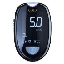 Aktivmed GlucoCheck GOLD mmol/L - Blutzuckermessgerät / 1 Set