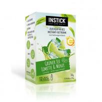 INSTICK Grüner Tee Limette & Minze - zuckerfreies Instant-Getränk - Größe S / 12 Sticks