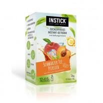 INSTICK Schwarzer Tee / Eistee Pfirsich - zuckerfreies Instant-Getränk - Größe S / 12 Sticks