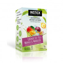 INSTICK Grüner Tee Mango & Maracuja - zuckerfreies Instant-Getränk - Größe S / 12 Sticks