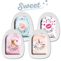 """Sticker-Set """"Sweet"""" - Aufkleber für Omnipod / Omnipod DASH / 4 Stück"""