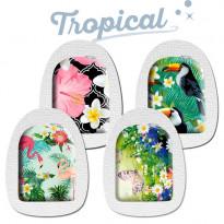 """Sticker-Set """"Tropical"""" - Aufkleber für Omnipod / Omnipod DASH / 4 Stück"""