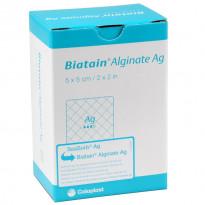 Biatain Alginate Ag 5 x 5 cm - Alginatverband mit Silber / 10 Stück