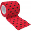 autsch & go Fixiertape rot mit Punkten - 5 cm x 4,5 m - Fixierung für Pod/Sensor / 1 Rolle