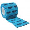 autsch & go Fixiertape blau mit Autos - 5 cm x 4,5 m - Fixierung für Pod/Sensor / 1 Rolle