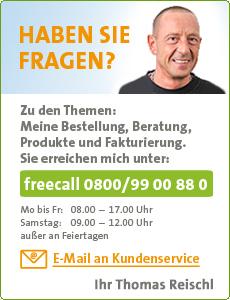 Haben Sie Fragen? freecall 0800/9900880