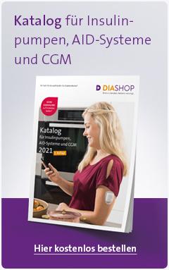 Den DIASHOP Katalog für Insulinpumpen, CGM-Systeme und Zubehör können Sie kostenlos hier anfordern.